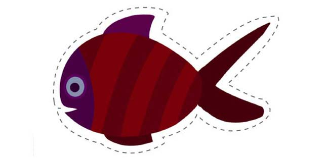 Fish (Cut-out for Kids)