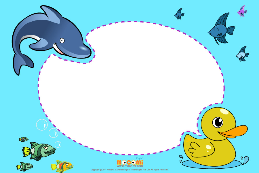 Dolphin Theme (Photo Frame for Kids)