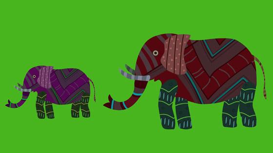 Gond Elephant and Calf