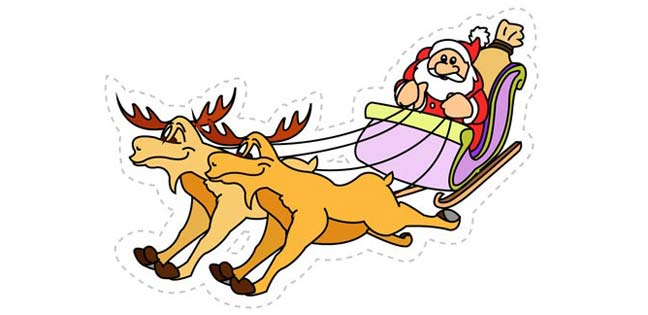 Santa's Sledge (Cut-out for Kids)