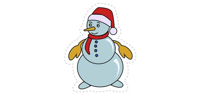Snowman (Cut-out for Kids)