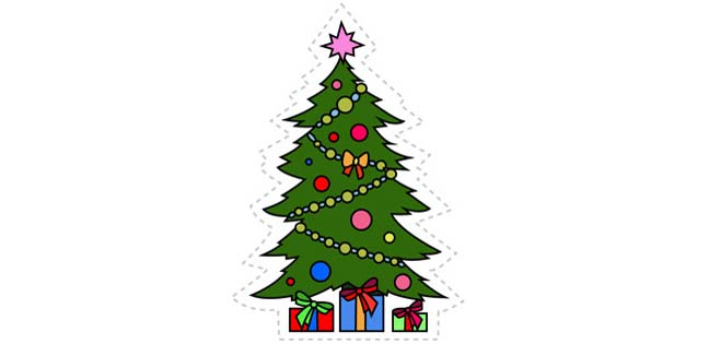 Christmas Tree (Cut-out for Kids)