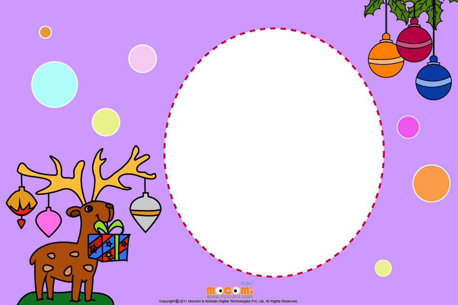 Reindeers and Gifts (Photo Frame for Kids)