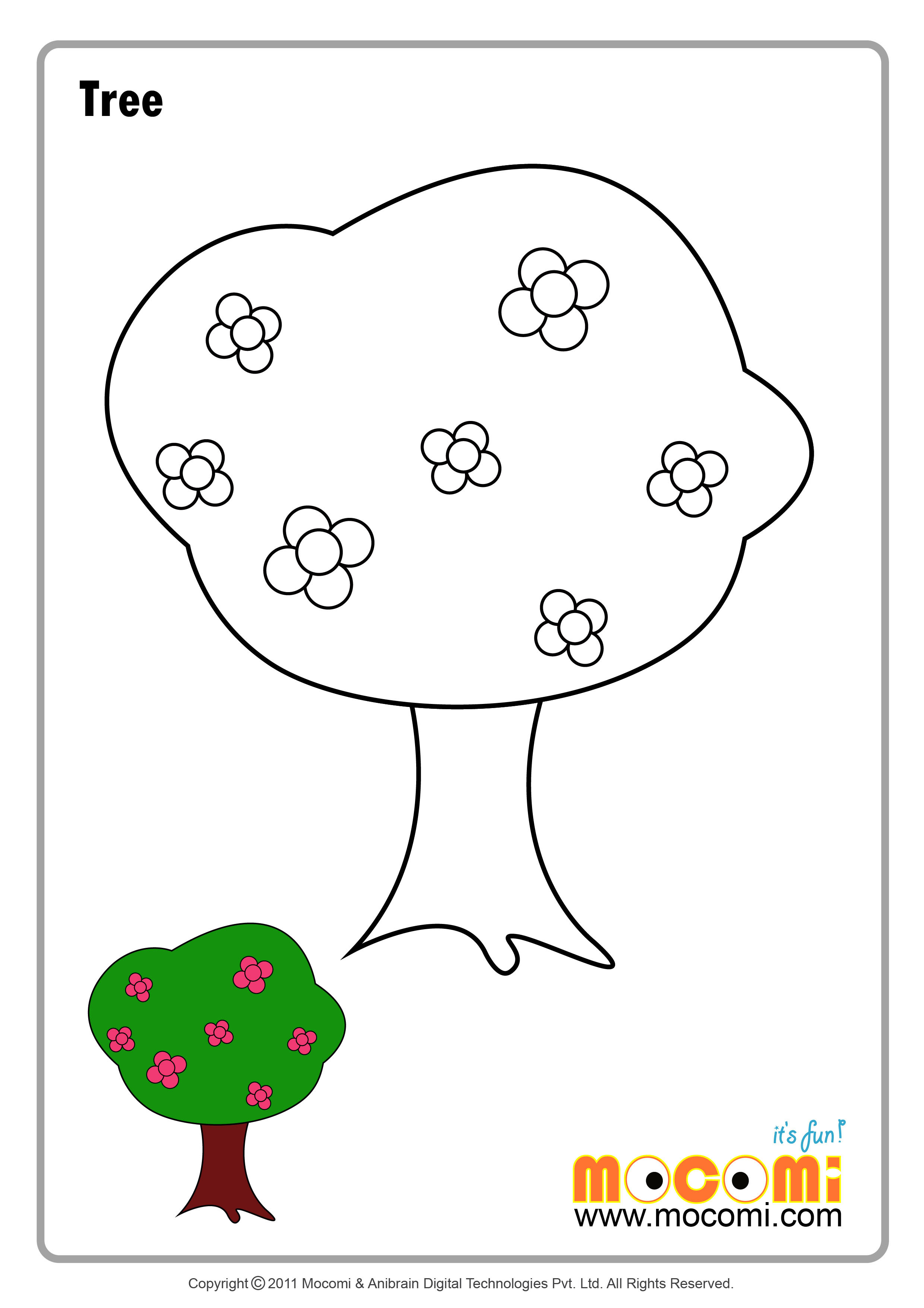 Tree 2 – Colouring Page