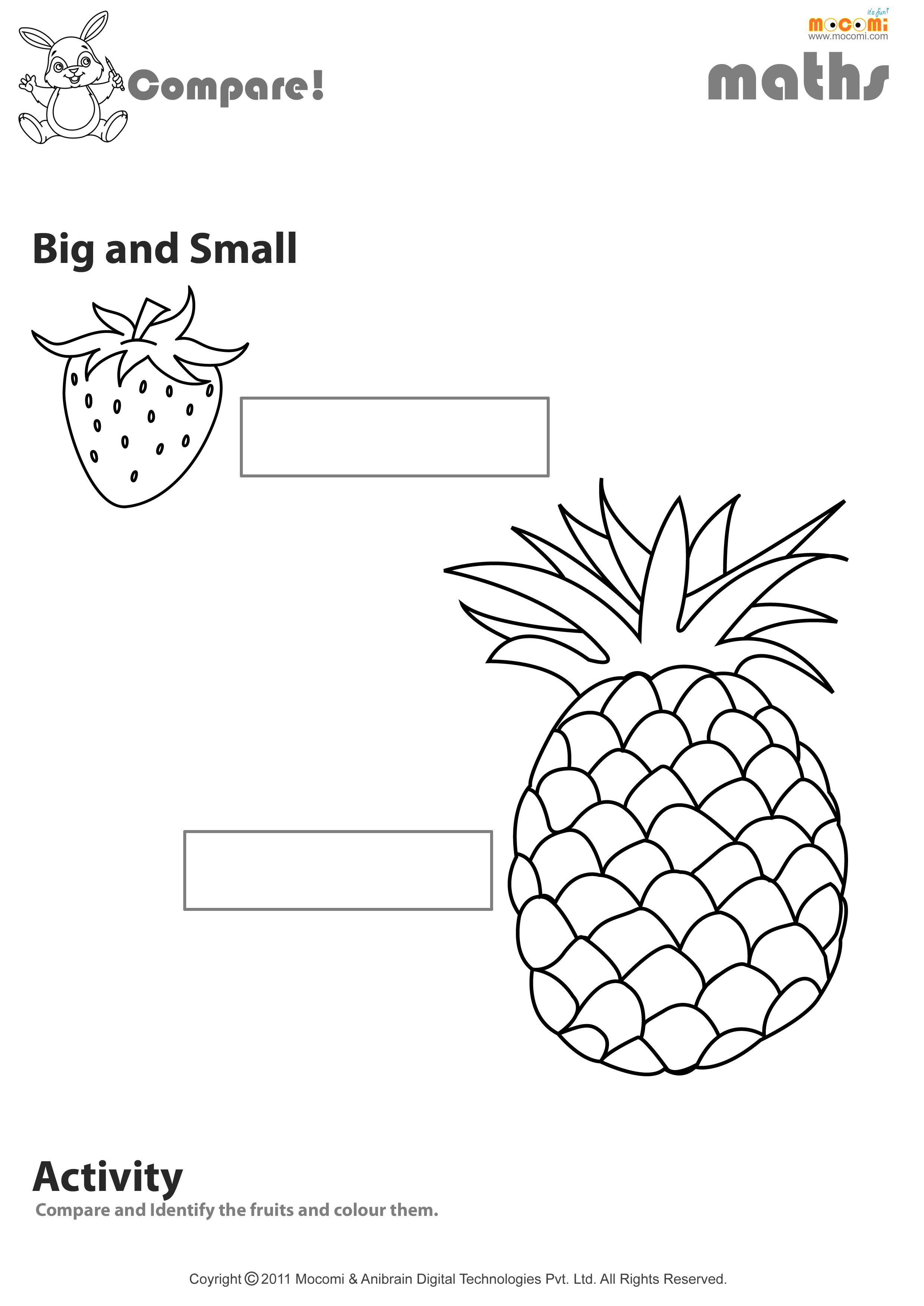 Compare – Big or Small Woksheet