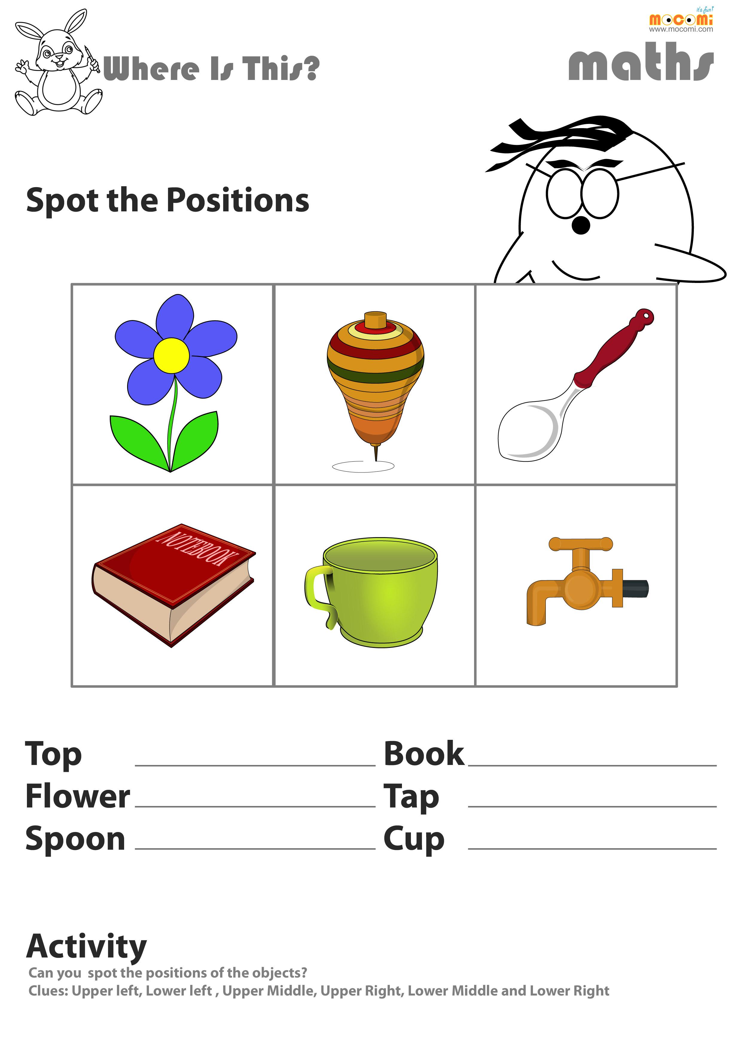 Relative Positions Worksheet