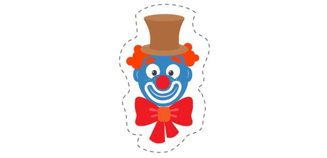 Clown 2 (Cut-out for Kids)