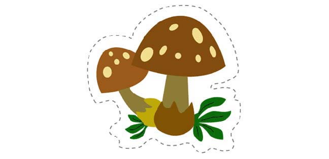 Mushroom (Cut-out for Kids)