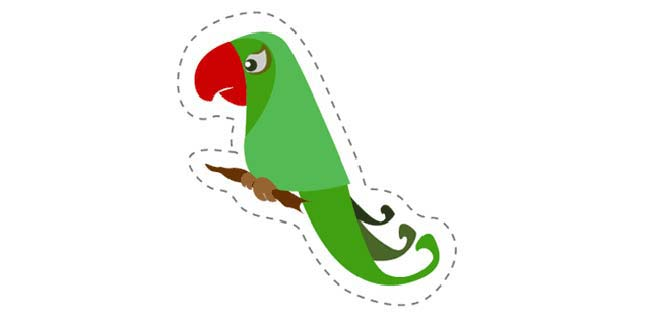 Parrot 1 (Cut-out for Kids)