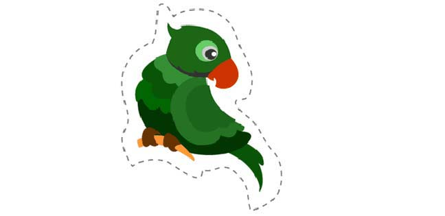 Parrot 2 (Cut-out for Kids)