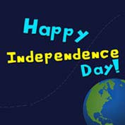 Happy Independence Day - On The Moon