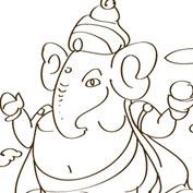 Lord Ganesha - 2 - Colouring Page