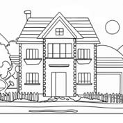 Mansion – Colouring Page
