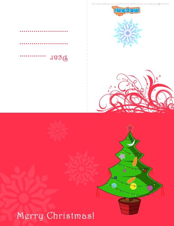 Christmas Tree (Printable Card for Kids)