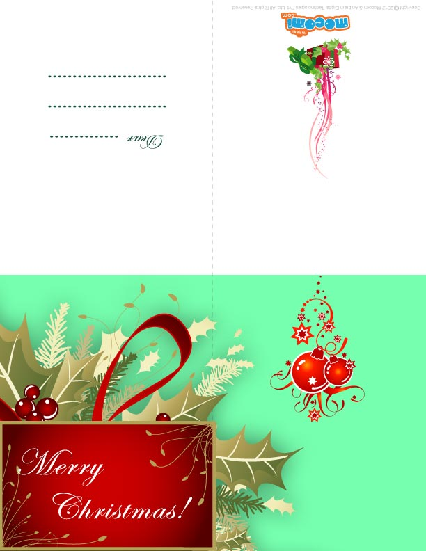 X-mas Decoration (Printable Card for Kids)