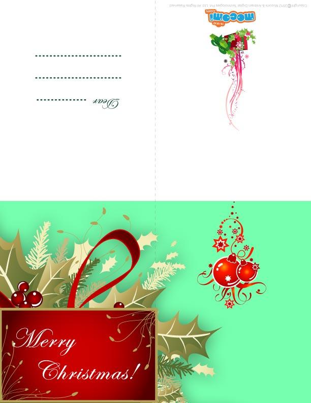 X-mas Decoration (Printable Card for Kids)