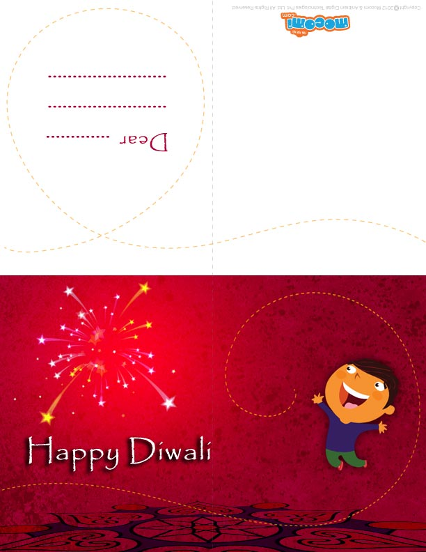 Diwali Firecrackers (Printable Card for Kids)