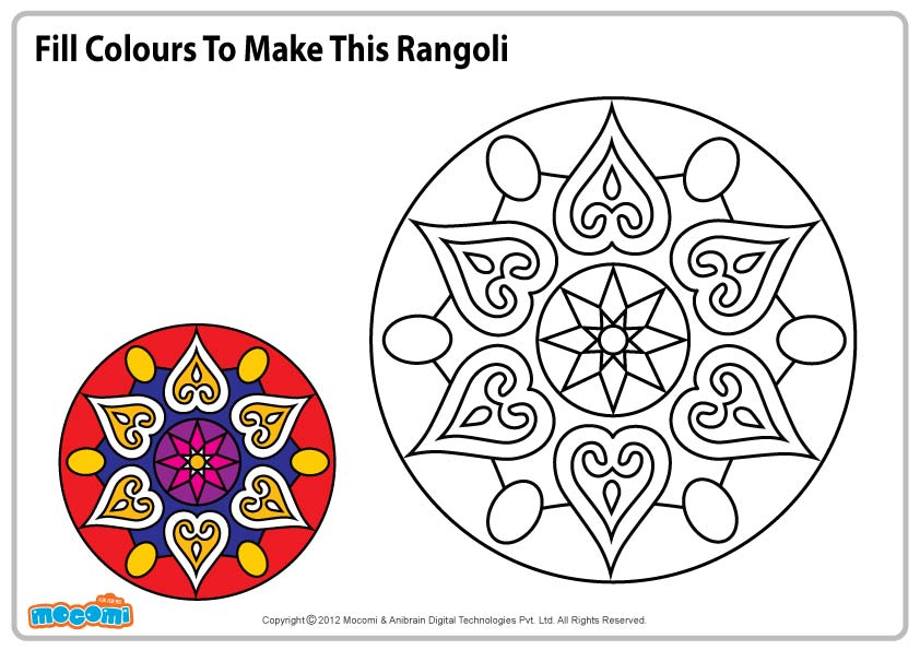 Design for Rangoli – Colouring Page