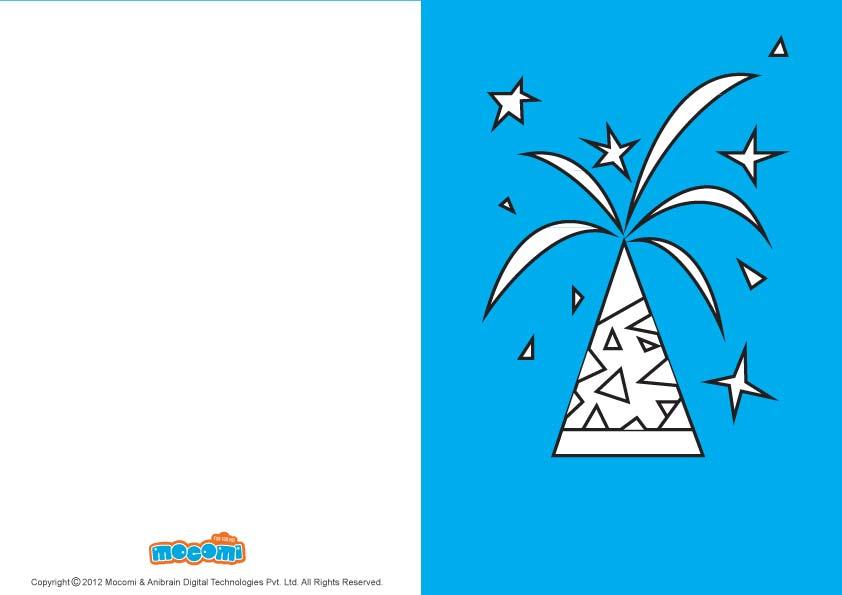 DIY Diwali Anar (Printable Card for Kids)