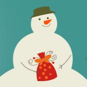 Merry Christmas - Snowman (Printable Card for Kids)