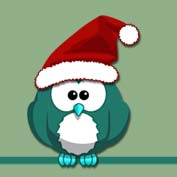 Christmas Owl (Printable Card for Kids)