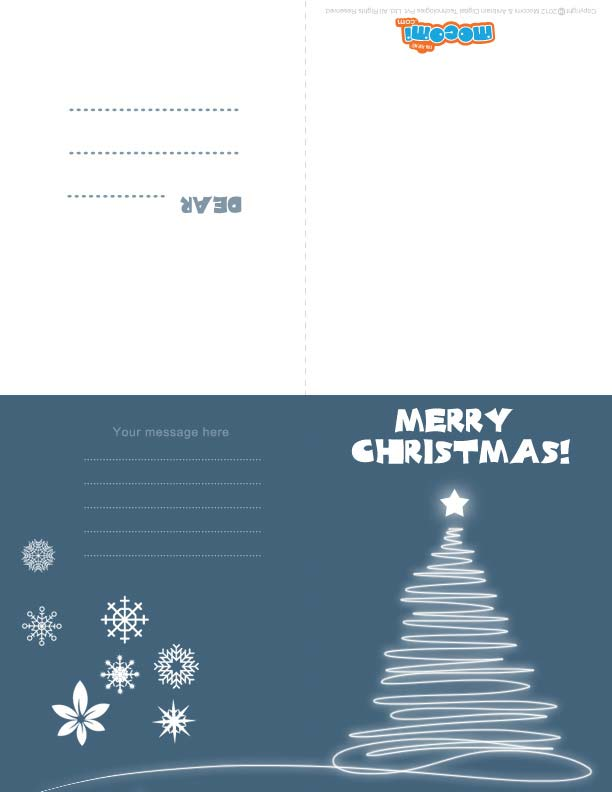 Christmas Light (Printable Card for Kids)