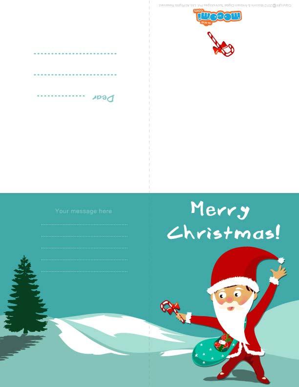 Santa Claus (Printable Card for Kids)