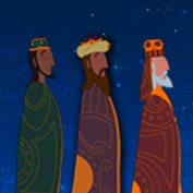 Merry Christmas - Three Wisemen to Bethlehem