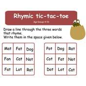 Rhymic Tic Tac Toe
