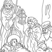 Merry Christmas- Jesus - Colouring Page