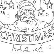 Merry Christmas- Santa Claus - Colouring Page