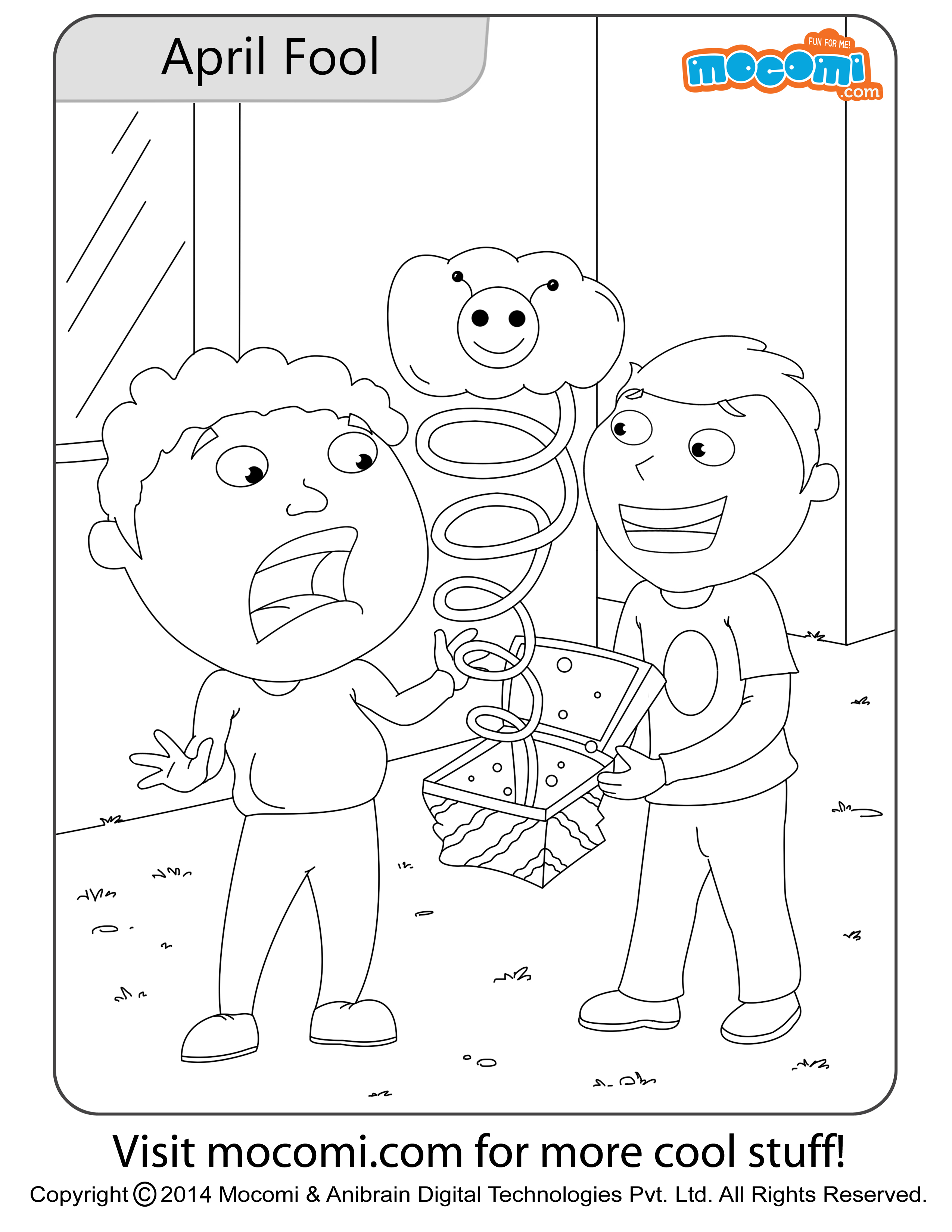 April Fool – Colouring Page
