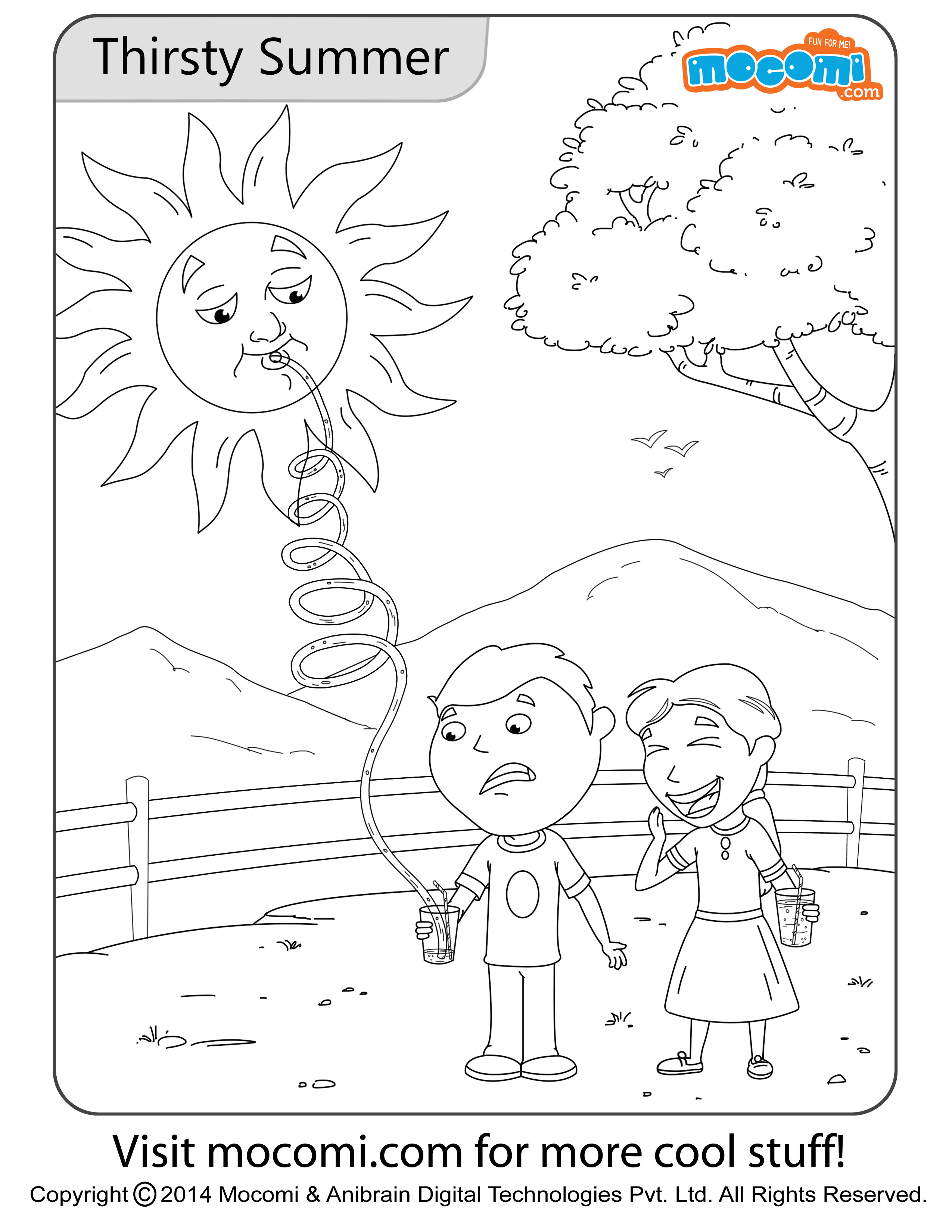 Thirsty Summer – Colouring Page
