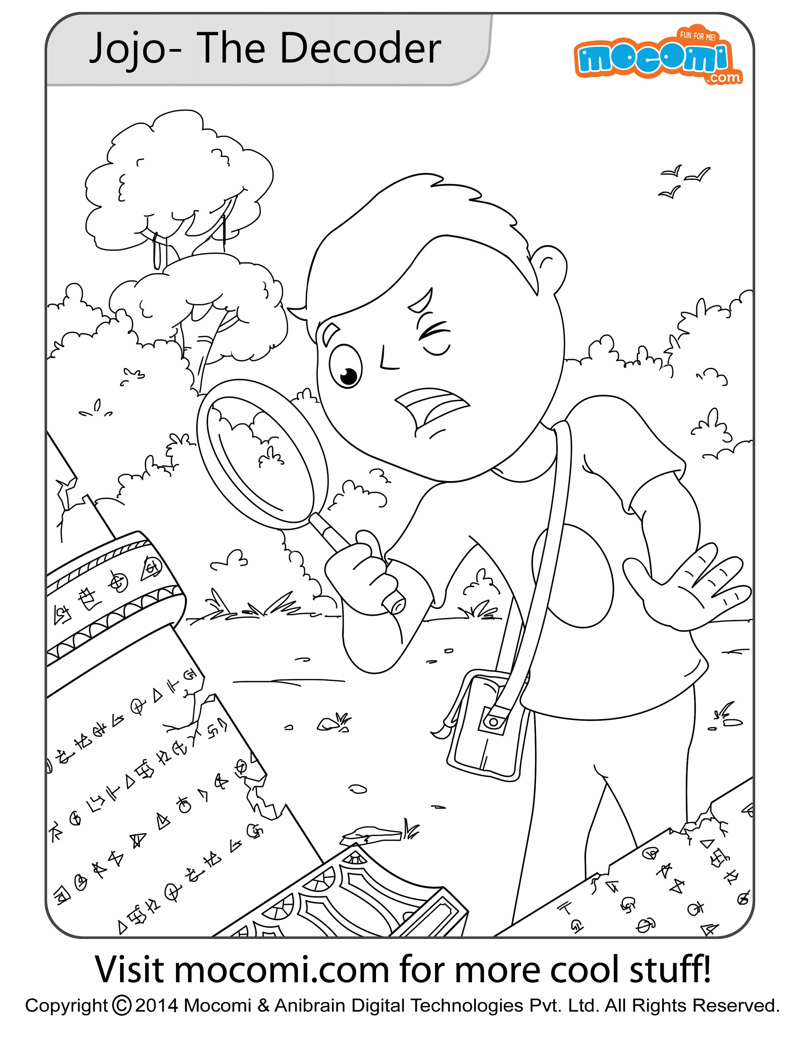 Jojo the Detective – Colouring Page