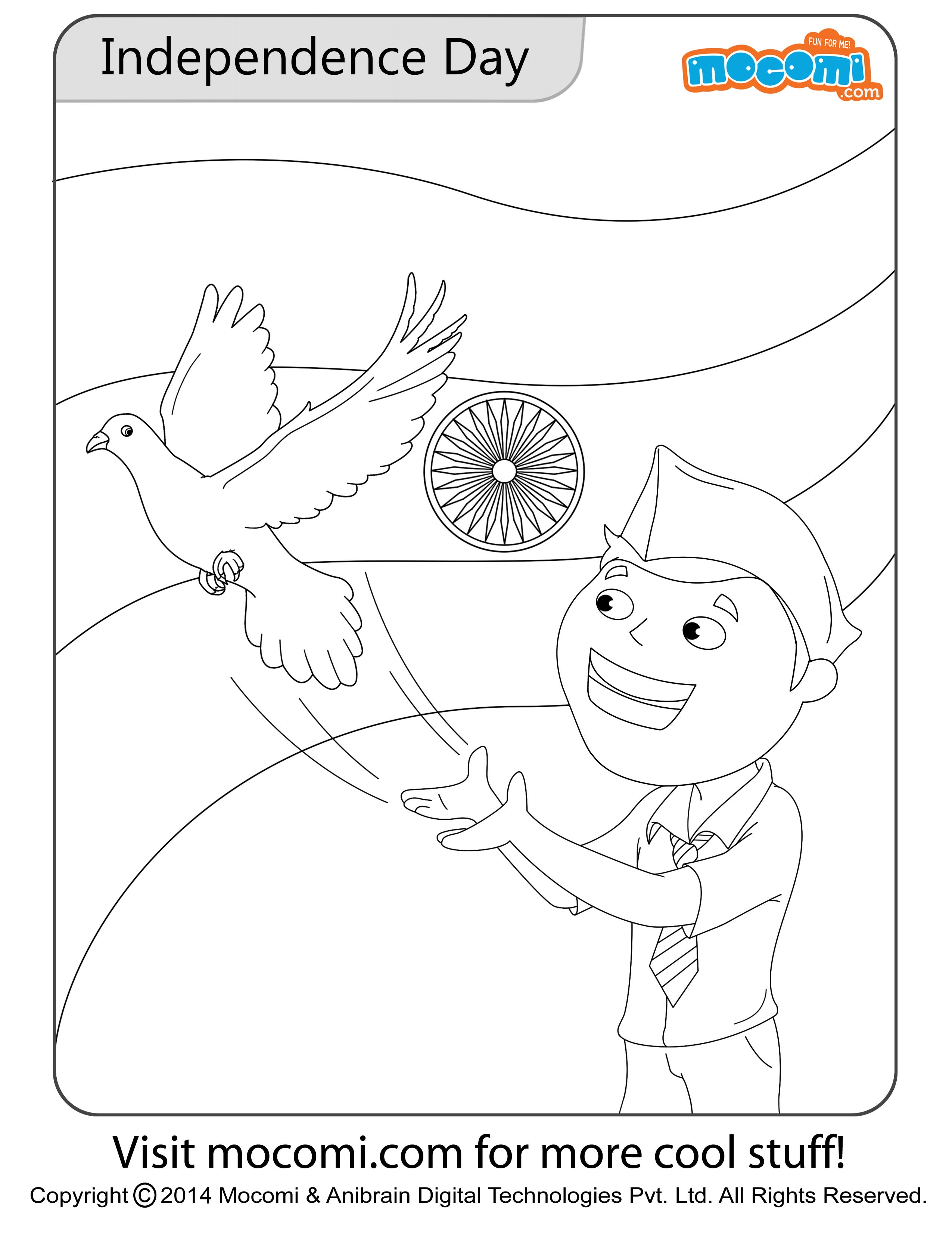 Independence Day – Colouring Page