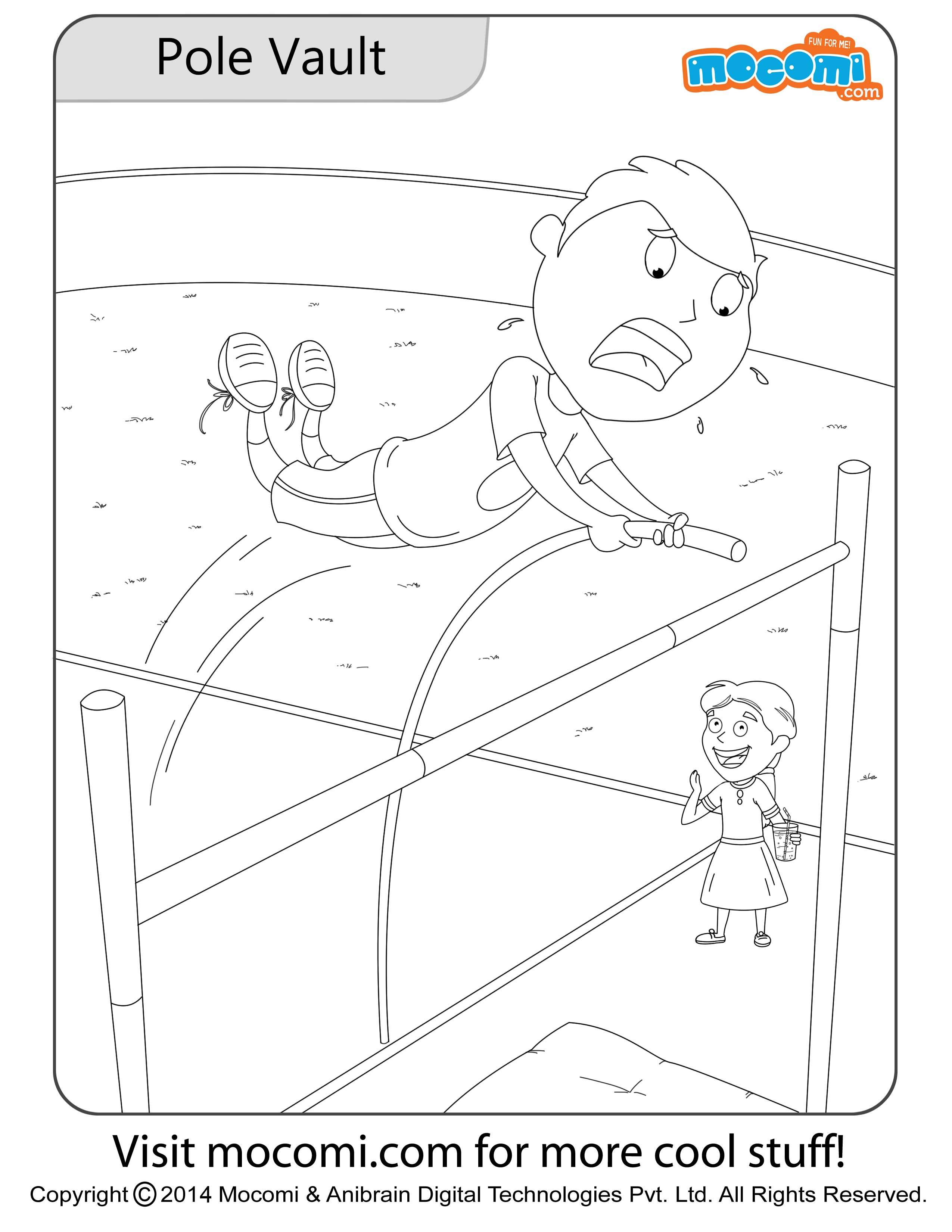 Pole Vault – Colouring Page