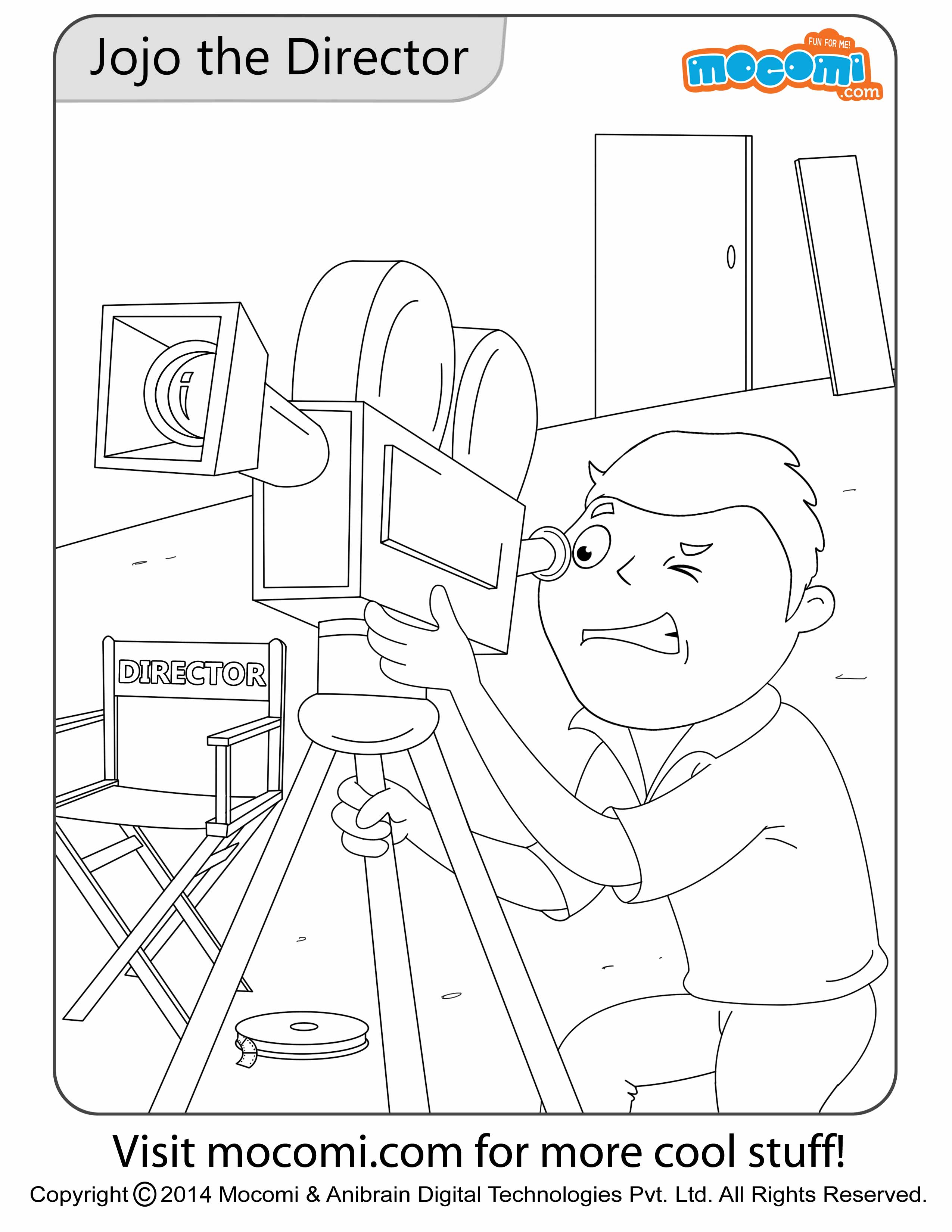 Jojo the Director – Colouring Page