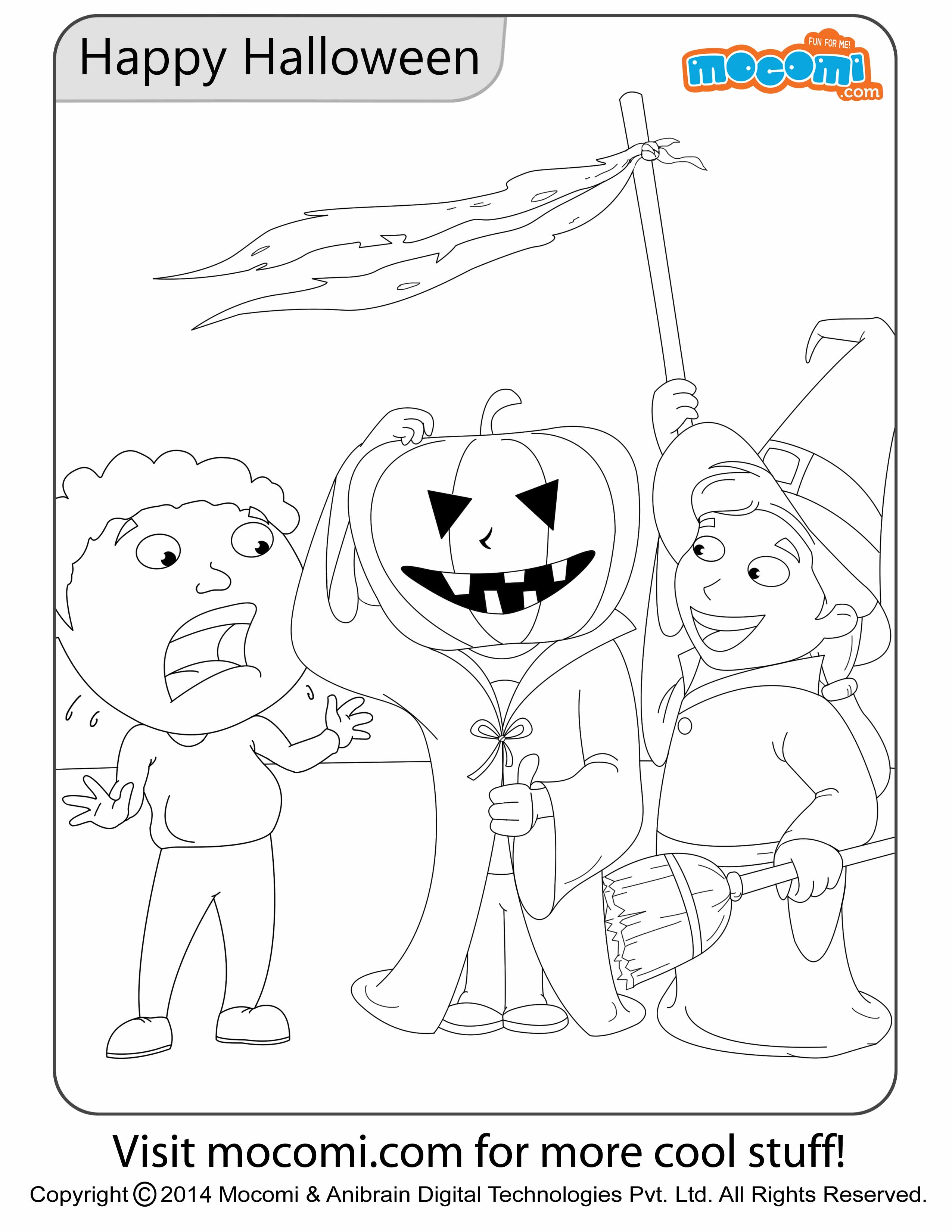 Happy Halloween – Colouring Page