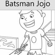 Batsman Jojo - Colouring Page