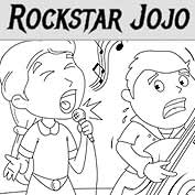 Rockstar Jojo - Colouring Page