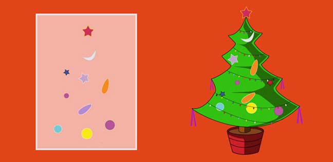 Christmas Tree (Printable Card for Kids)