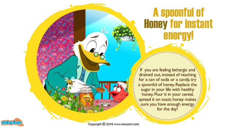 A spoonful of Honey for instant energy!