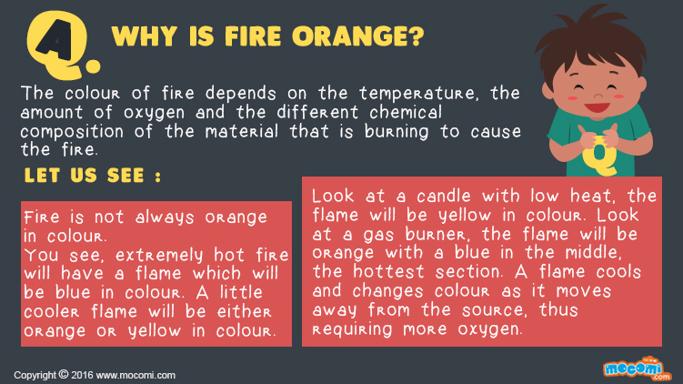 Why is Fire Orange?
