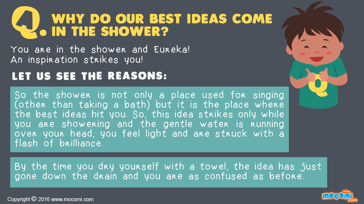 Why do our best ideas come in the Shower?