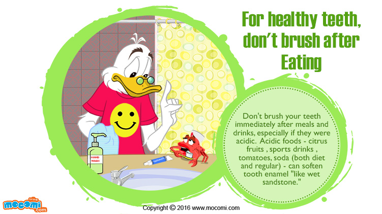 Brushing Teeth after Eating isn't good for you!