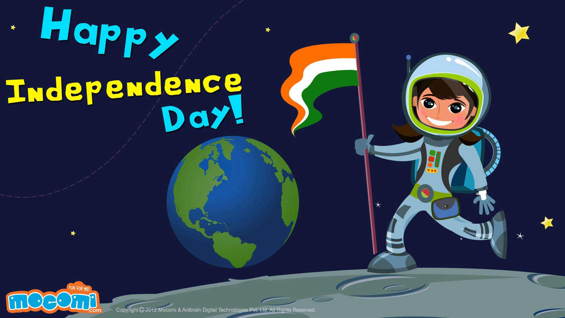 Happy Independence Day – On The Moon