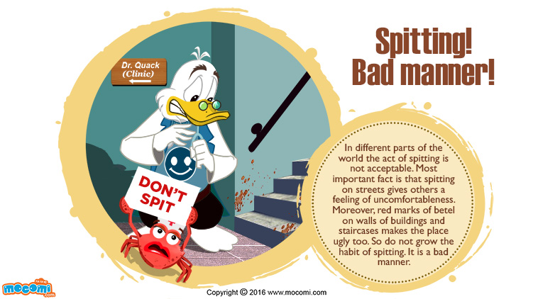 Spitting is a Bad Manner!