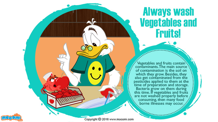 Always wash Vegetables and Fruits!