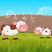 Cows transfixed by saxophone sound!